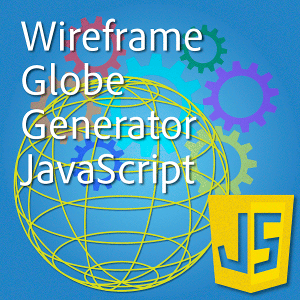 Illustrator javascript wireframe globe icon