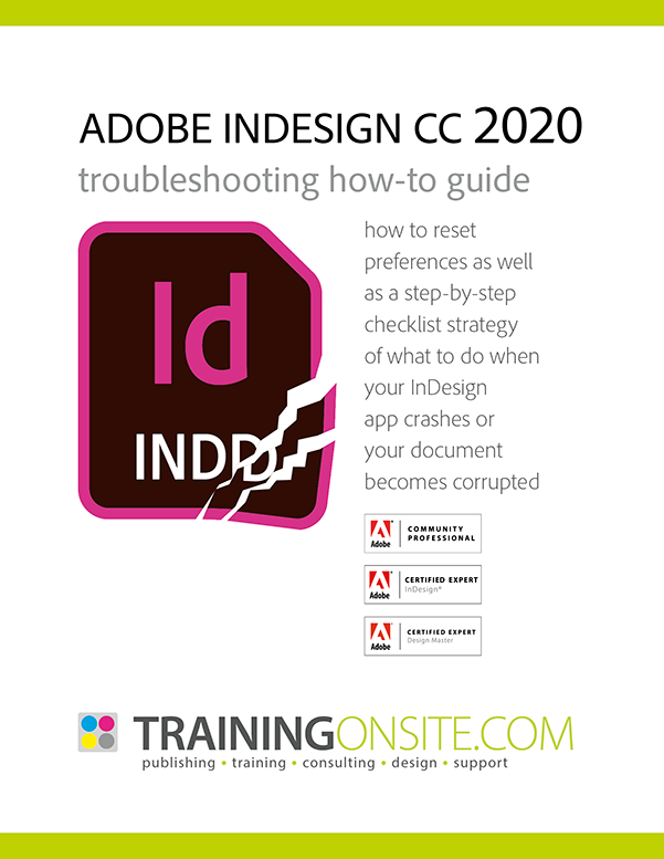 InDesign CC 2020 troubleshooting