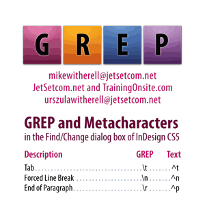 InDesign CS5 GREP and Metacharacters 1-column for smartphones