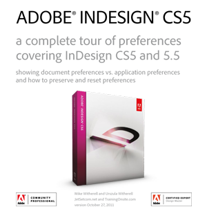 InDesign CS5 complete tour of preferences